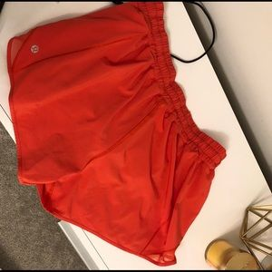 "Lululemon Hotty Hot Short 4"" Sz. 10 THERMAL RED"